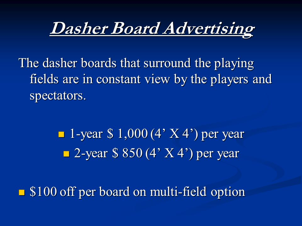 The dasher boards that surround the playing fields are in constant view by the players and spectators.
