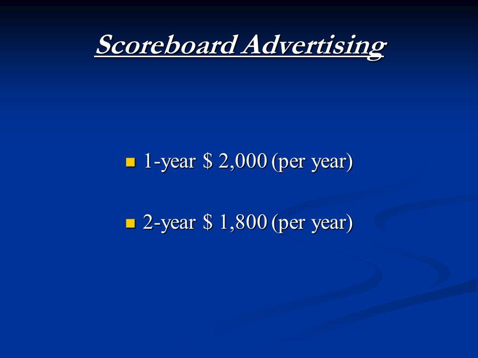1-year $ 2,000 (per year) 1-year $ 2,000 (per year) 2-year $ 1,800 (per year) 2-year $ 1,800 (per year)