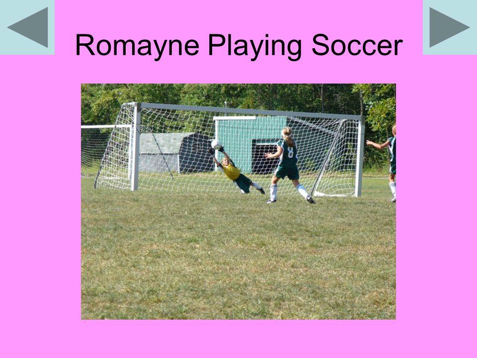Romayne Playing Soccer