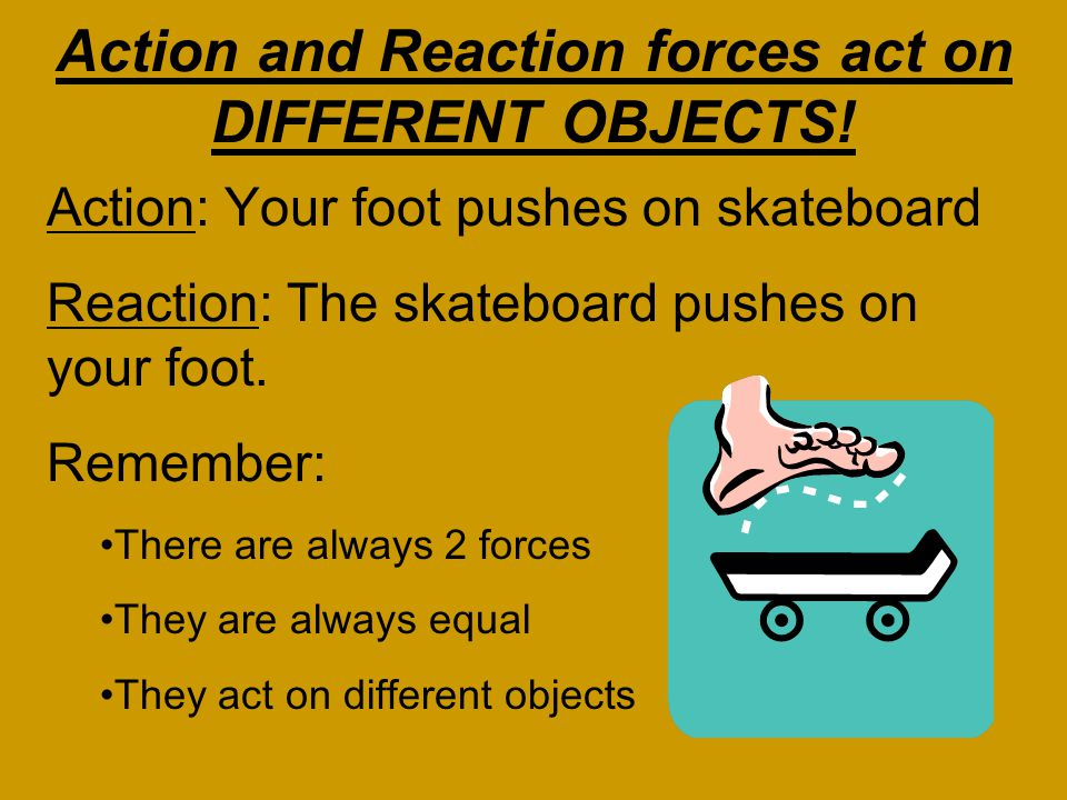 What does this mean? For every force acting on an object, there is an equal force acting in the opposite direction. Right now, gravity is pulling you