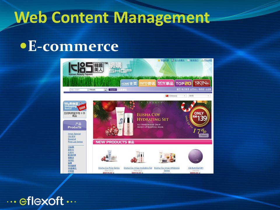 Web Content Management E-commerce