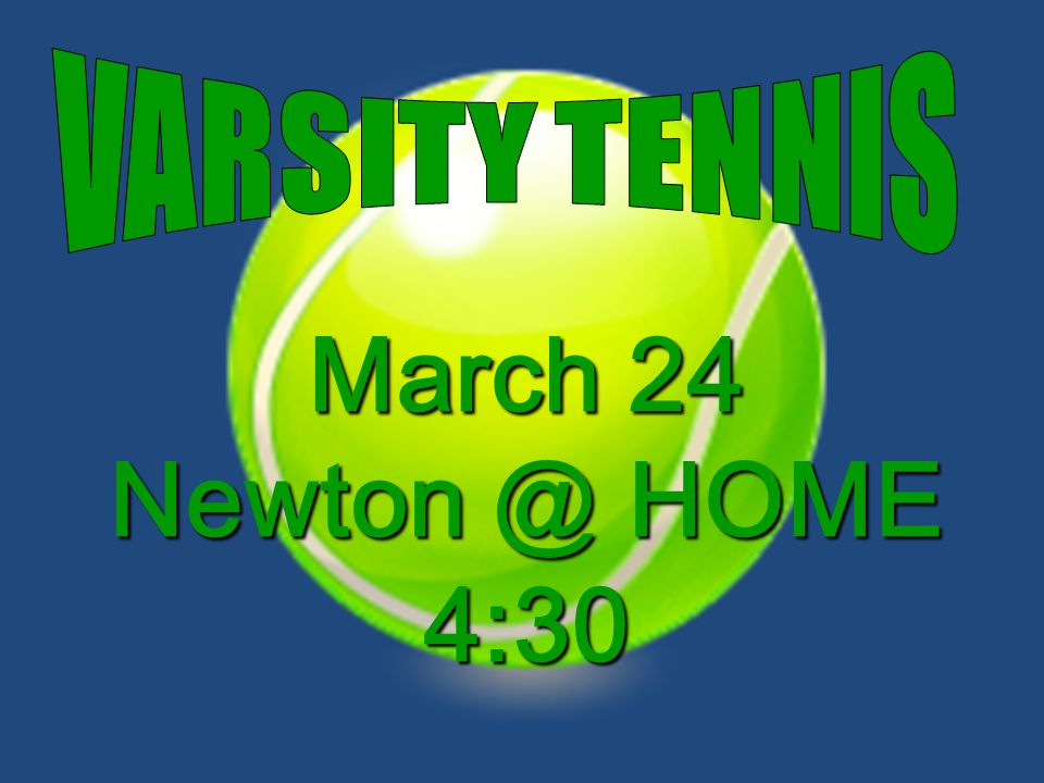 March 24 Newton @ HOME 4:30