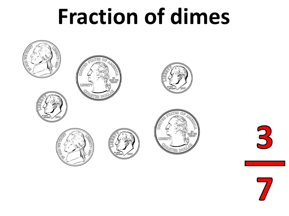 Fraction of dimes