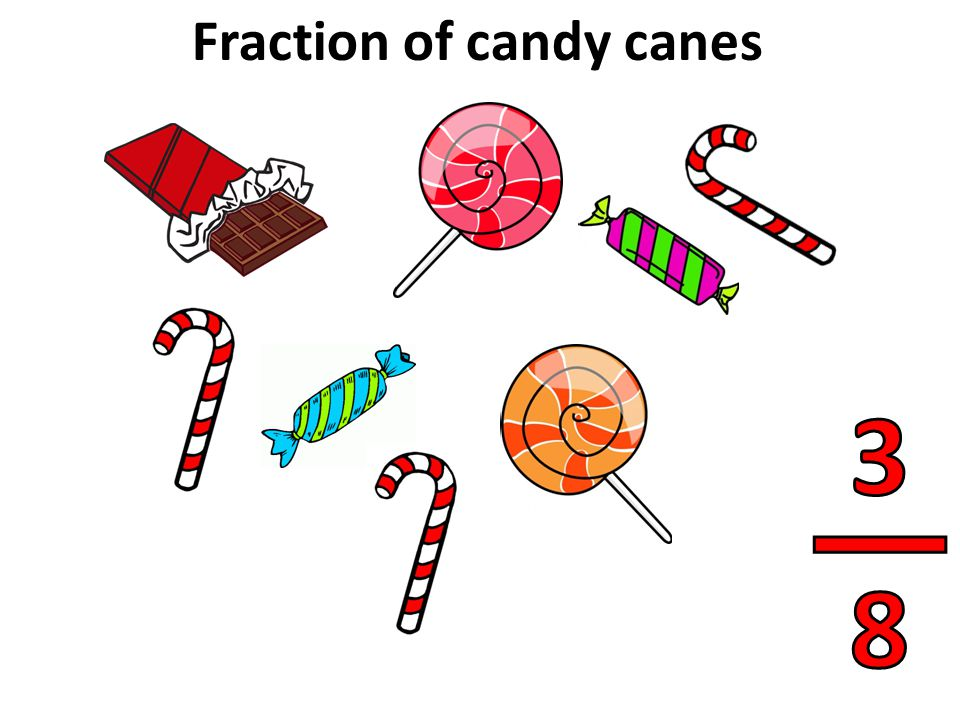 Fraction of candy canes
