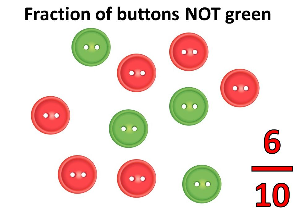 Fraction of buttons NOT green