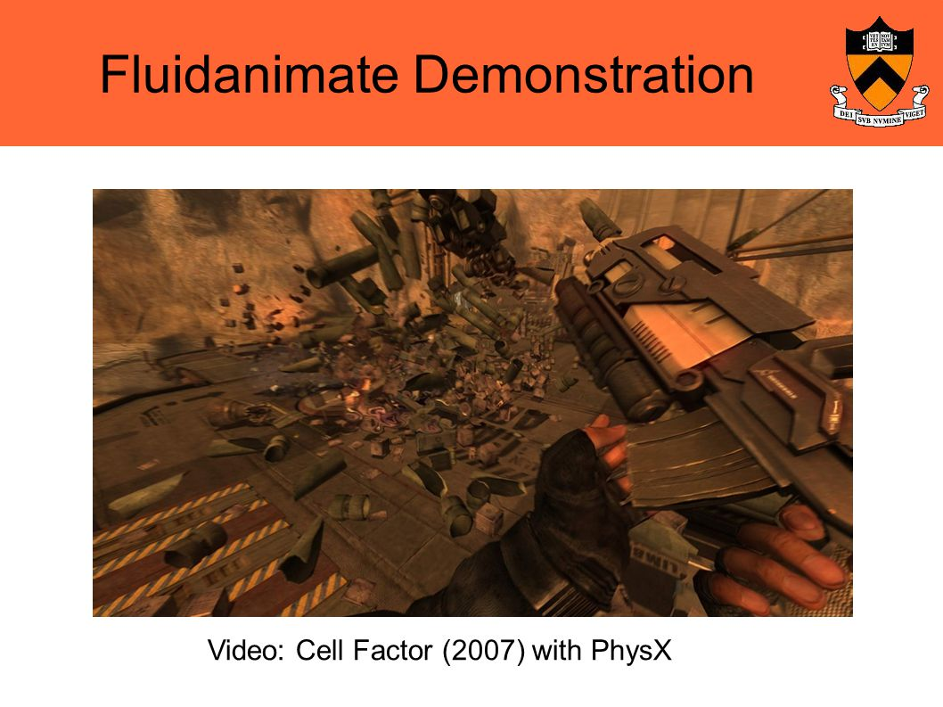 Fluidanimate Demonstration Video: Cell Factor (2007) with PhysX