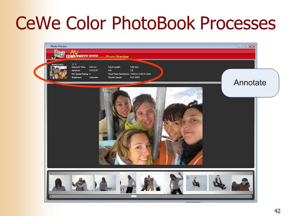 42 CeWe Color PhotoBook Processes