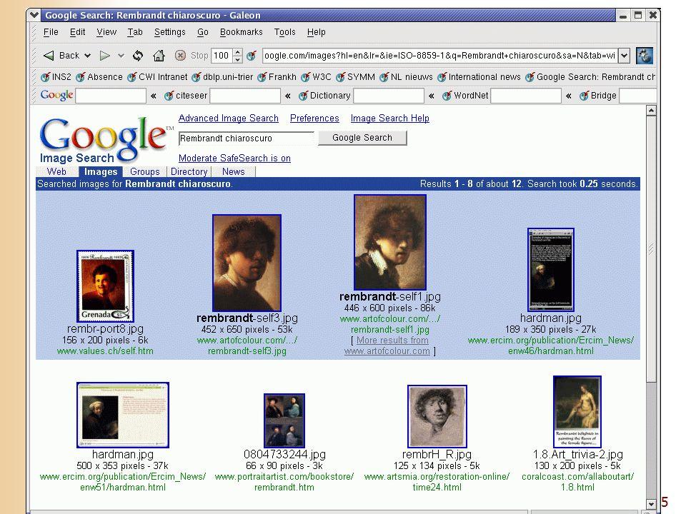 5 Presentation of Google results: image
