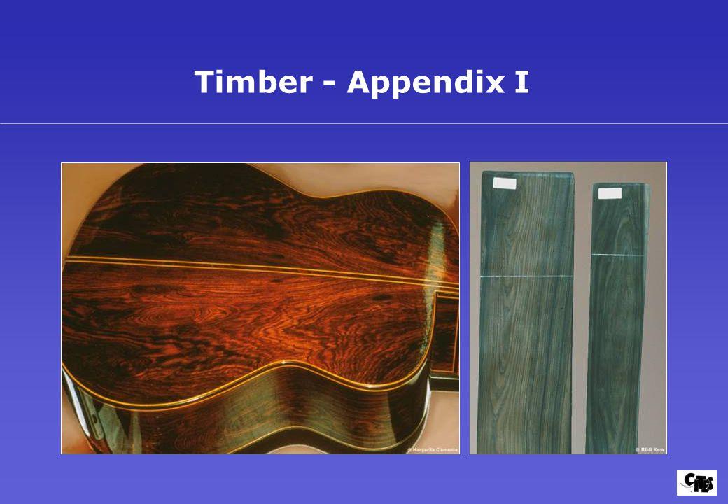 Timber - Appendix I