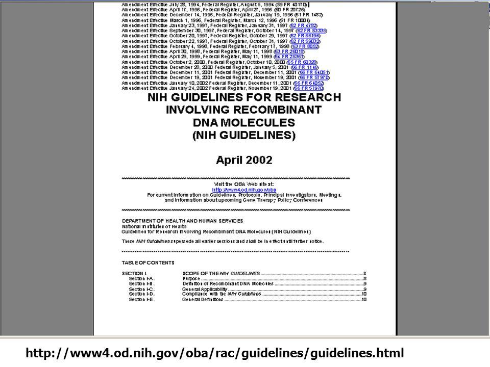 http://www4.od.nih.gov/oba/rac/guidelines/guidelines.html