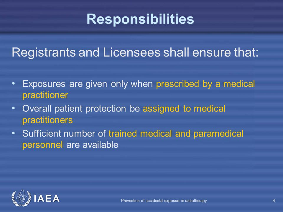 IAEA Prevention of accidental exposure in radiotherapy35 Dose Constraints When individuals are to be exposed for research purposes, without likelihood of direct benefit, the Ethical Review Committee shall specify dose constraints to be followed.