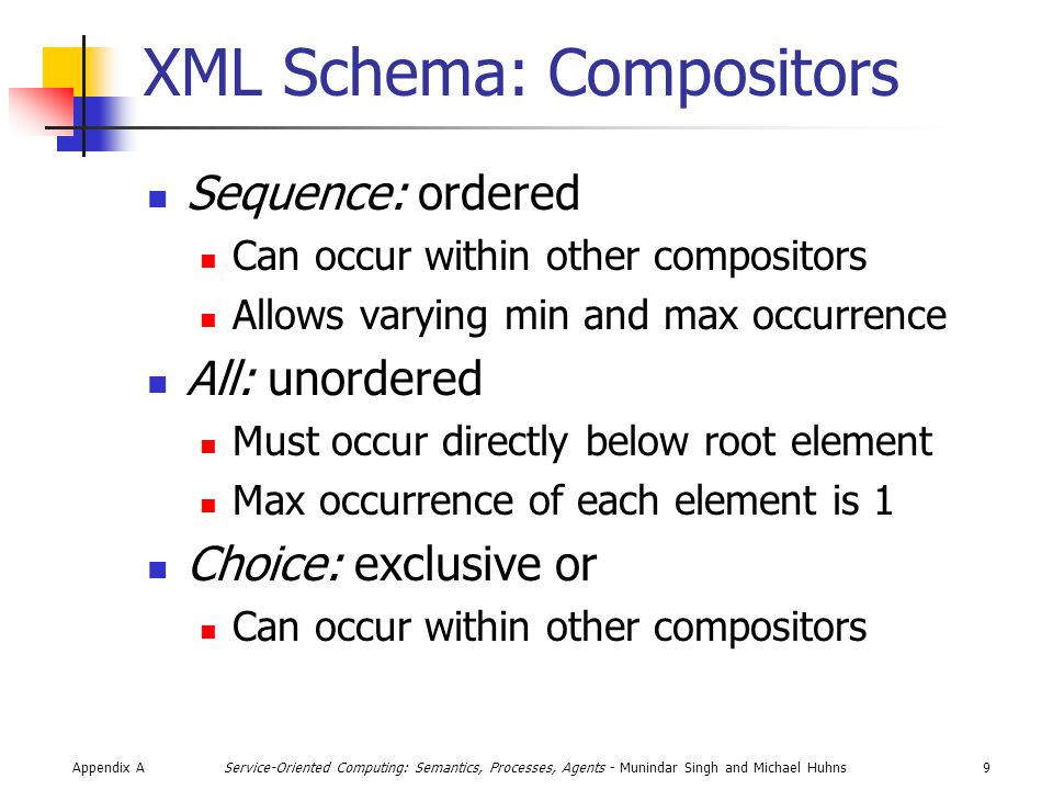 Appendix A30Service-Oriented Computing: Semantics, Processes, Agents - Munindar Singh and Michael Huhns XSLT A functional programming language A stylesheet specifies transformations on a document <?xml-stylesheet type= text/xsl href= URL-to-dot-xsl ?> <!– the sheet to use  …