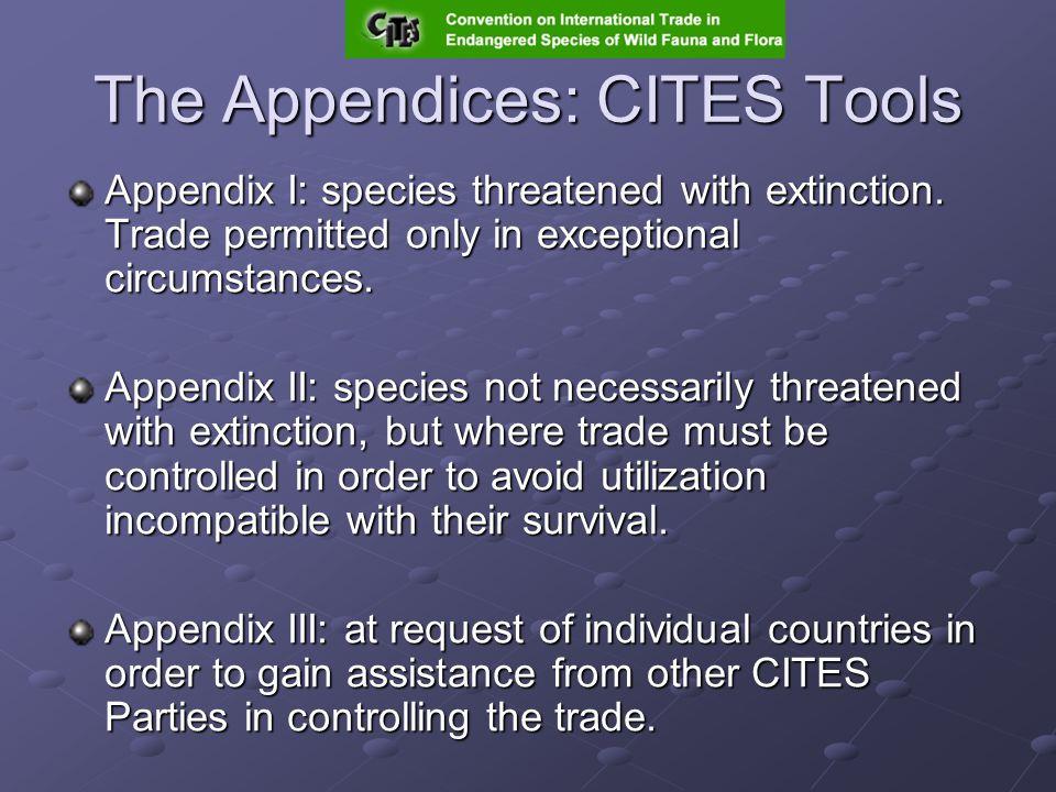 CITES Article XV 2(b): External Advice For marine species, the Secretariat shall...