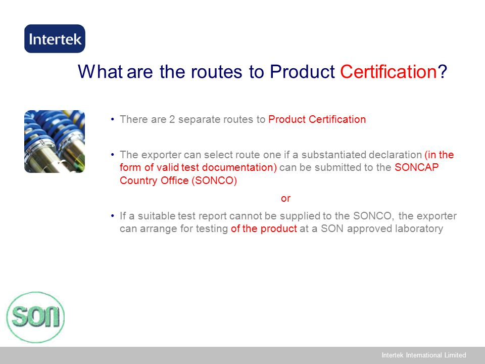Intertek International Limited What are the routes to Product Certification.