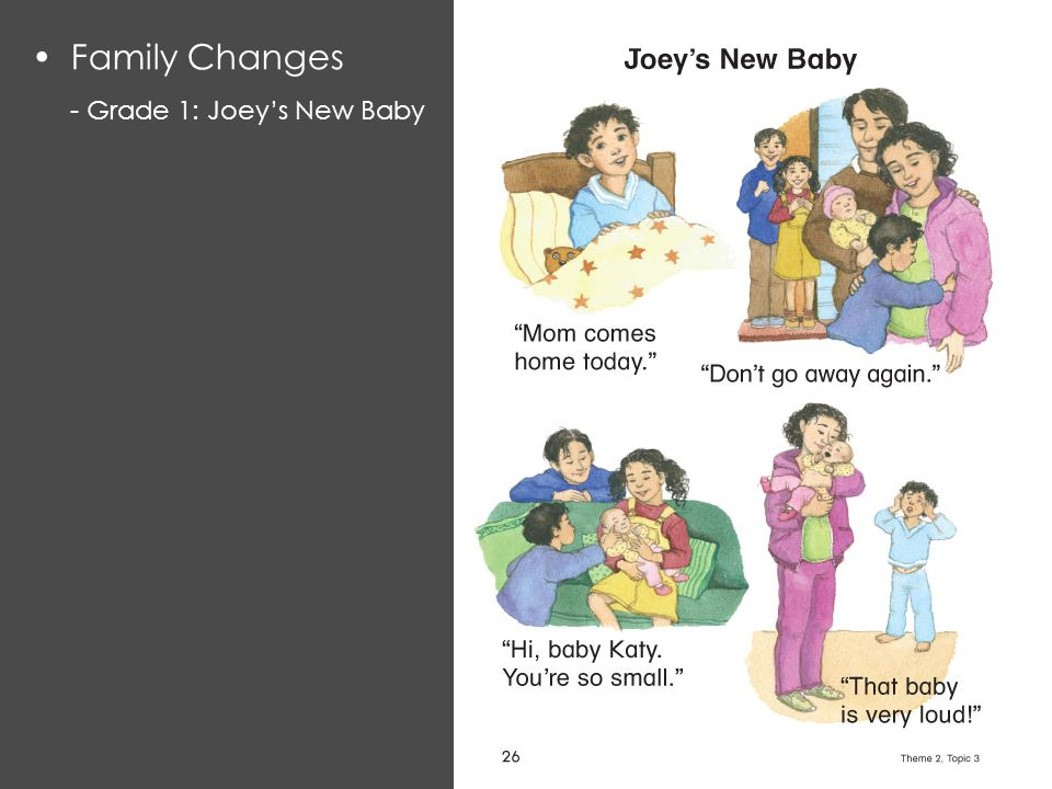 Family Changes - Grade 1: Joey's New Baby