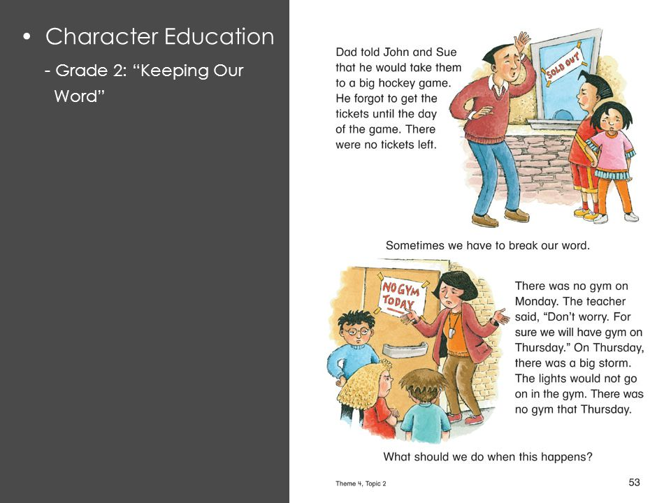 Character Education - Grade 2: Keeping Our Word