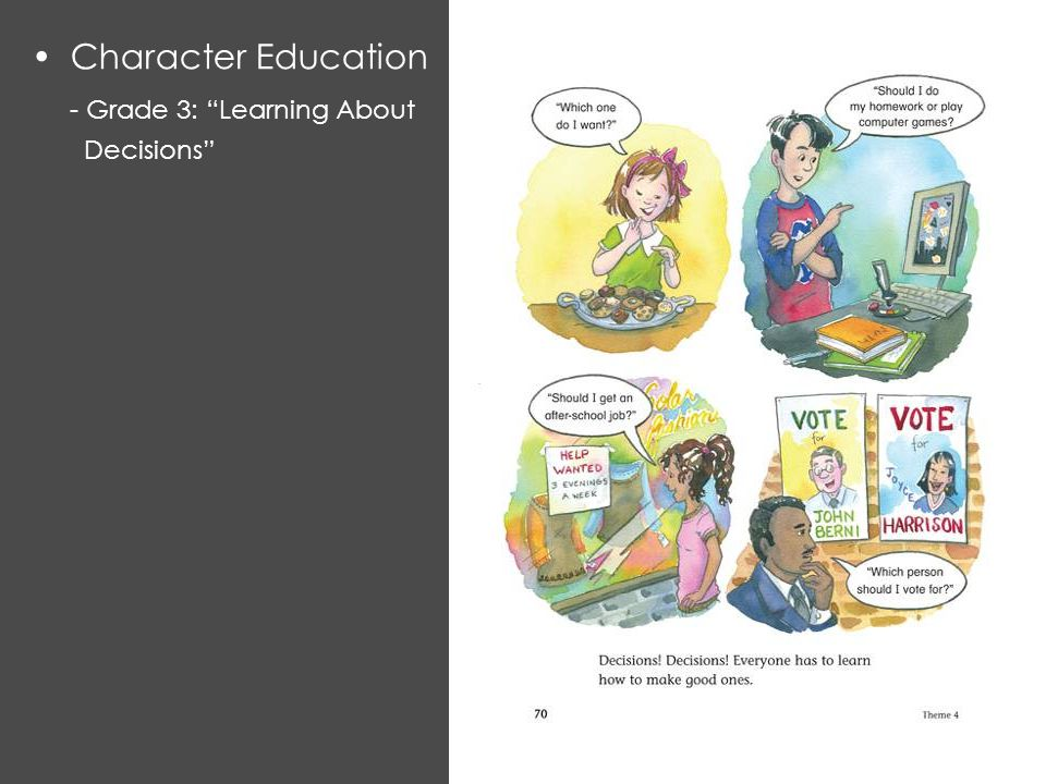 Character Education - Grade 3: Learning About Decisions