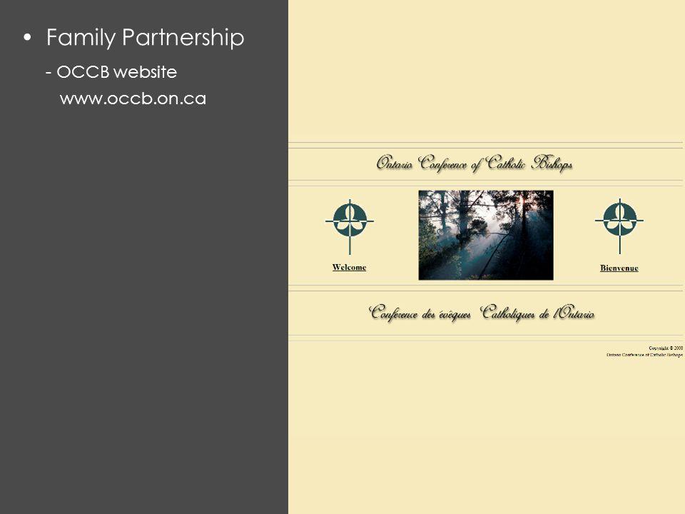 Family Partnership - OCCB website www.occb.on.ca