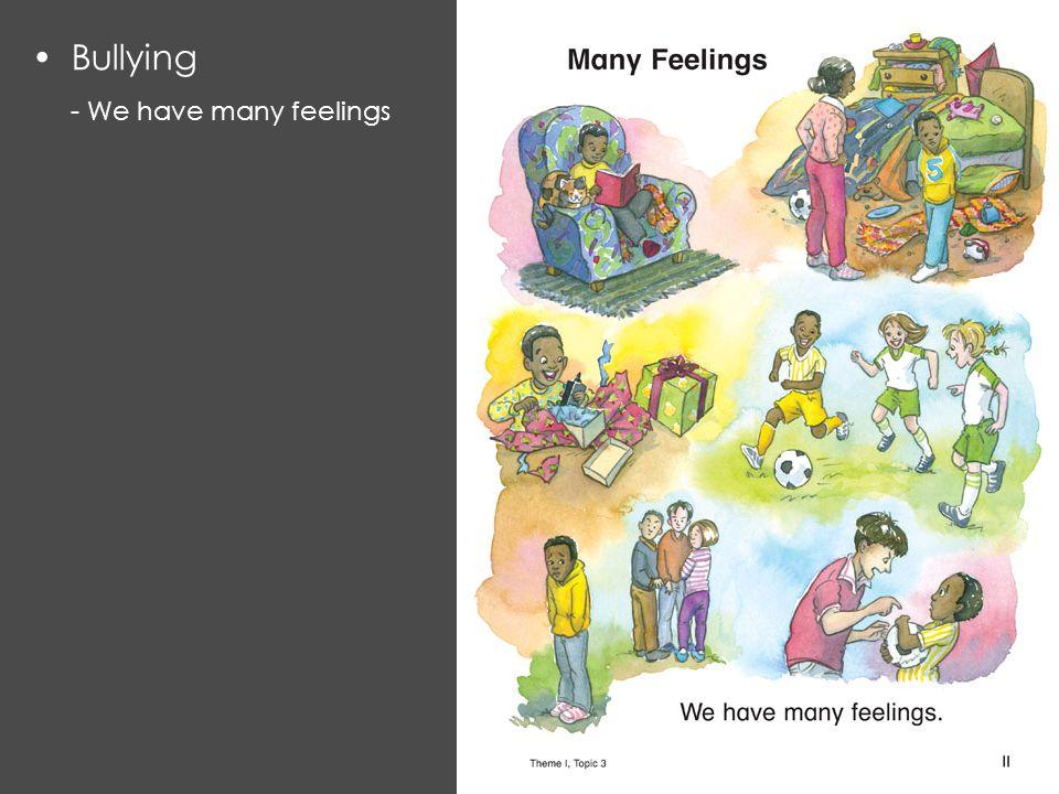 Bullying - We have many feelings