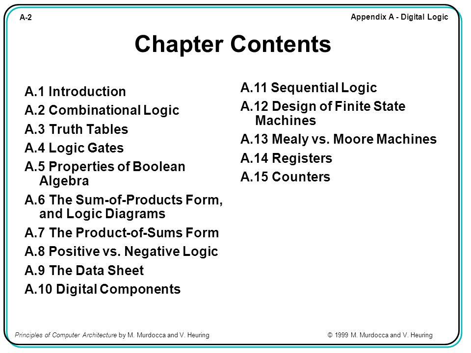 A-33 Appendix A - Digital Logic Principles of Computer Architecture by M.