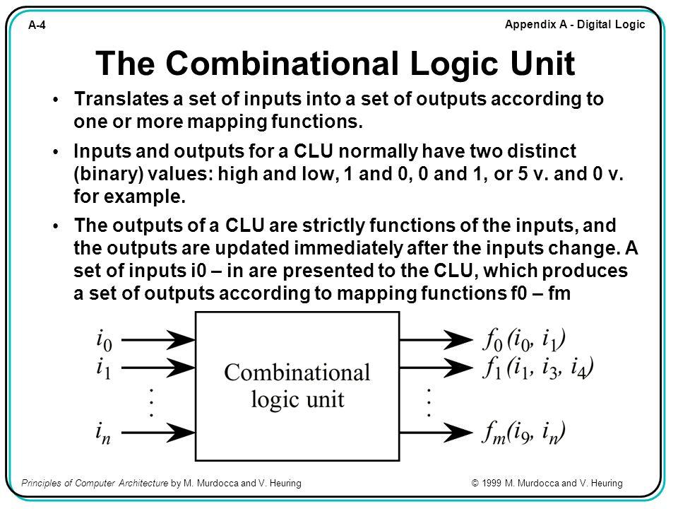 A-65 Appendix A - Digital Logic Principles of Computer Architecture by M.