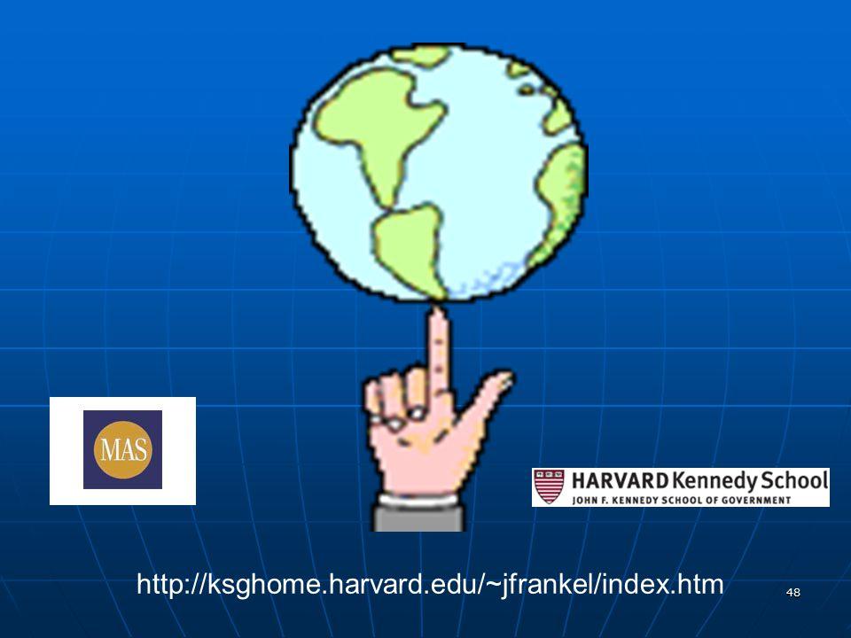 48 http://ksghome.harvard.edu/~jfrankel/index.htm