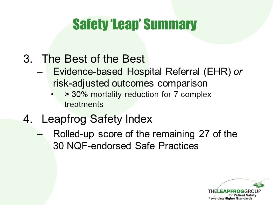 Leapfrog's Hospital Quality and Safety Survey Display