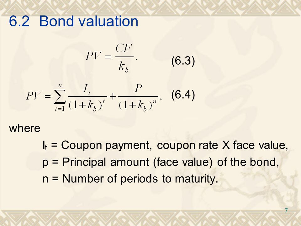 6.3Common-stock valuation (6.9a) (6.9b) 18