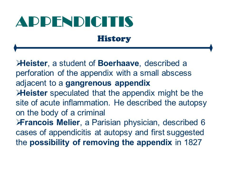 APPENDICITIS Clinical Features PSOAS SIGN The psoas sign.