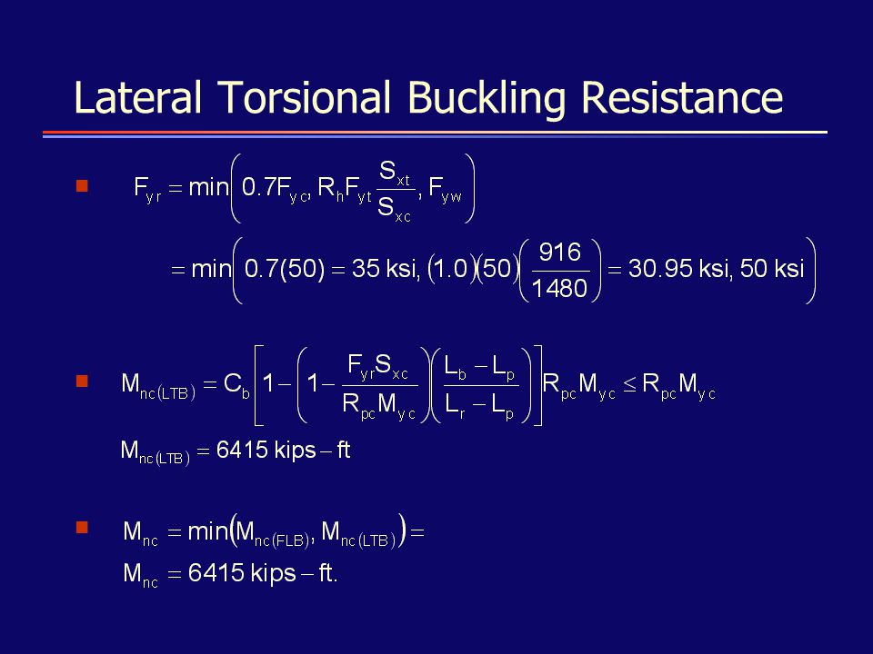 Lateral Torsional Buckling Resistance