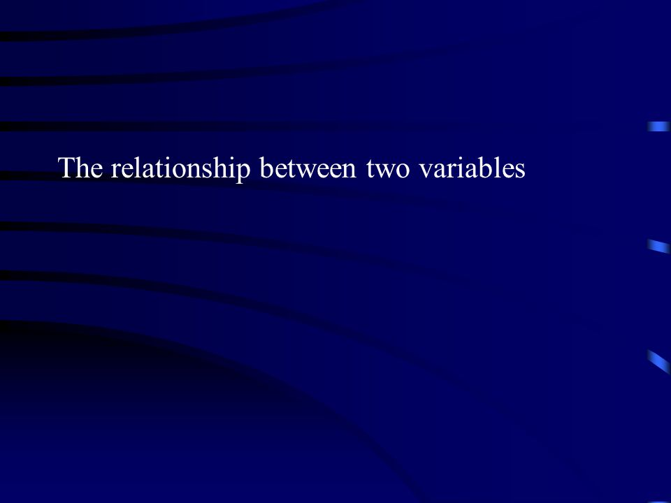 The relationship between two variables