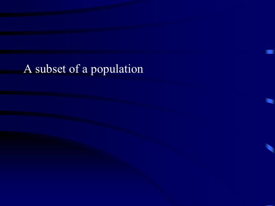 A subset of a population