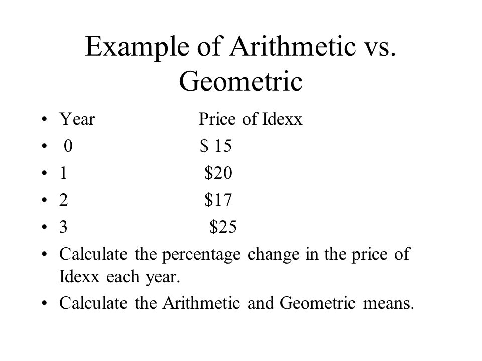 Variance   = E ( r n - r ) 2 n - 1 Calculate the variance of Idexx's stock price.
