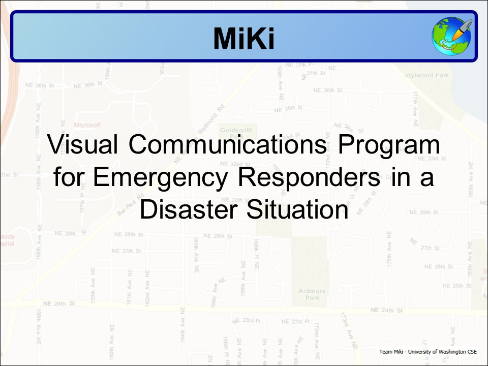 The MiKi is a great system to allow emergency responders to not only see, in real time, scene management, but to document what is going on and to have a record of the response and activity during a major event.