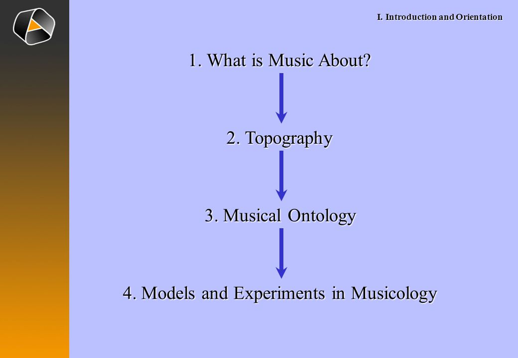 I. Introduction and Orientation 1. What is Music About.