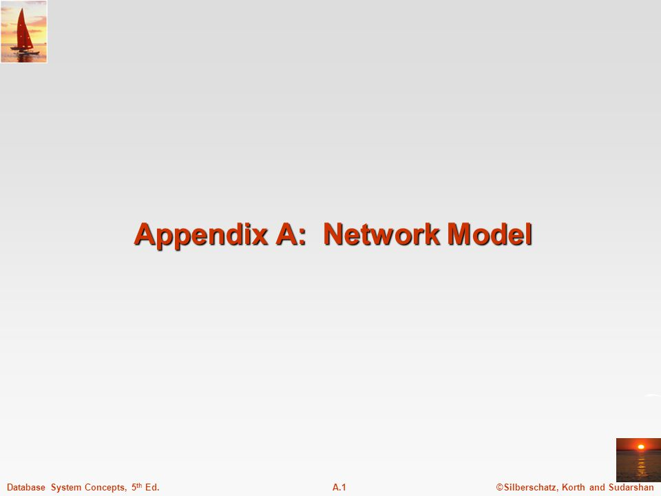 ©Silberschatz, Korth and SudarshanA.1Database System Concepts, 5 th Ed. Appendix A: Network Model