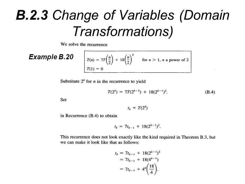B.2.3 Change of Variables (Domain Transformations)