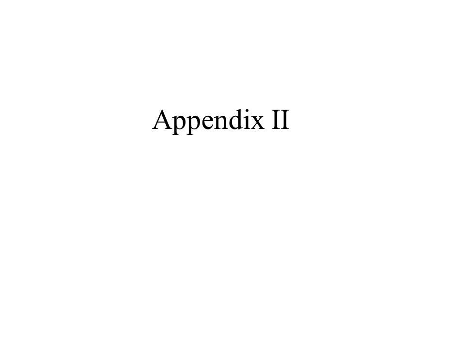 Appendix II