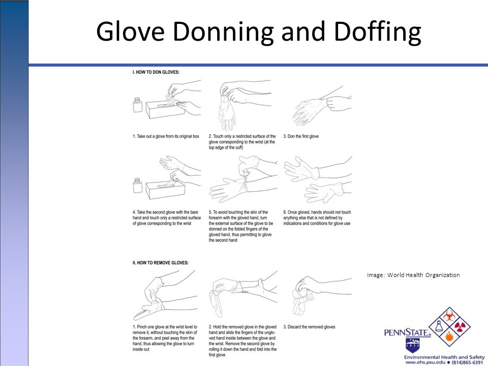 Glove Donning and Doffing Image: World Health Organization