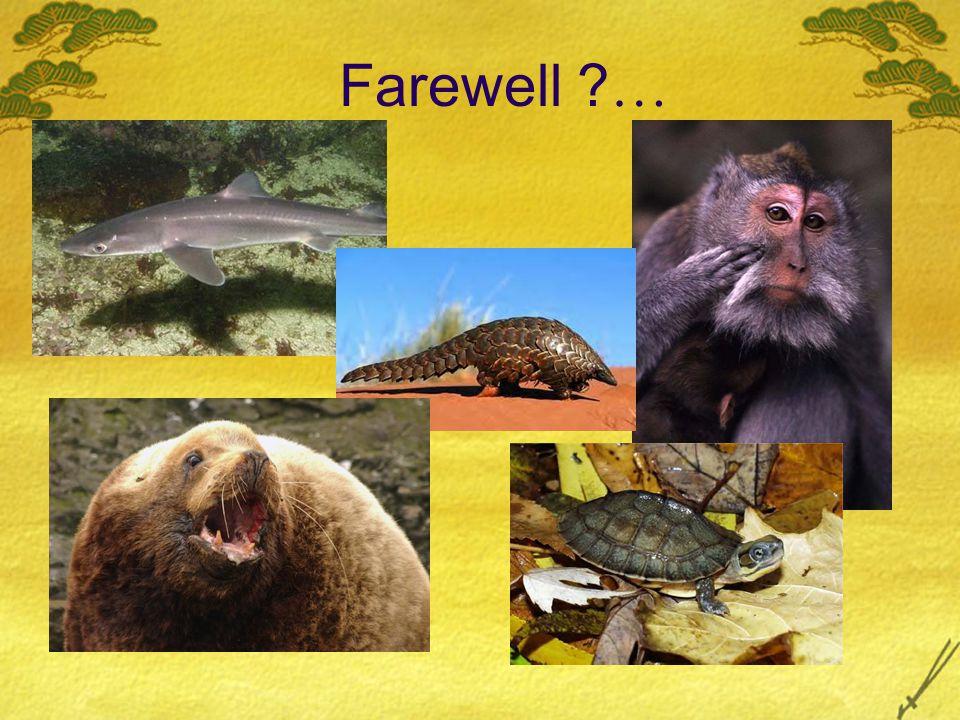 Farewell ? …