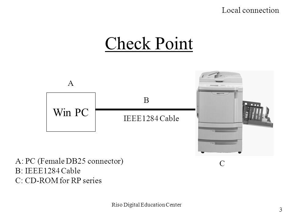 Riso Digital Education Center HUB NET-B (RP series) If the HUB is 10BaseT If the HUB is 100BaseTX or Dual Speed 2.