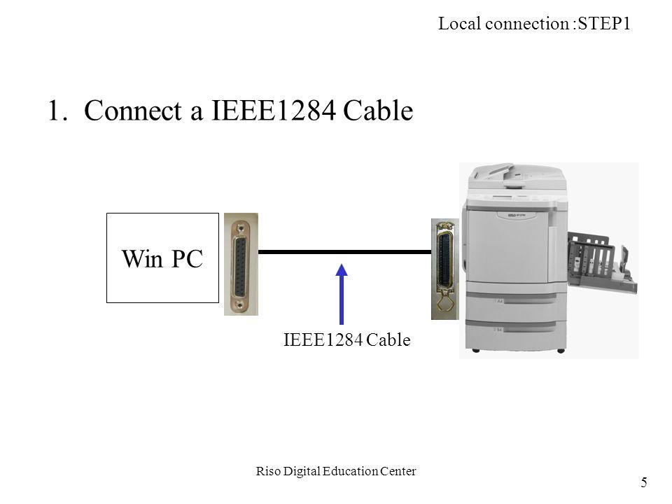 Riso Digital Education Center b-1.Open network properties on Master PC.