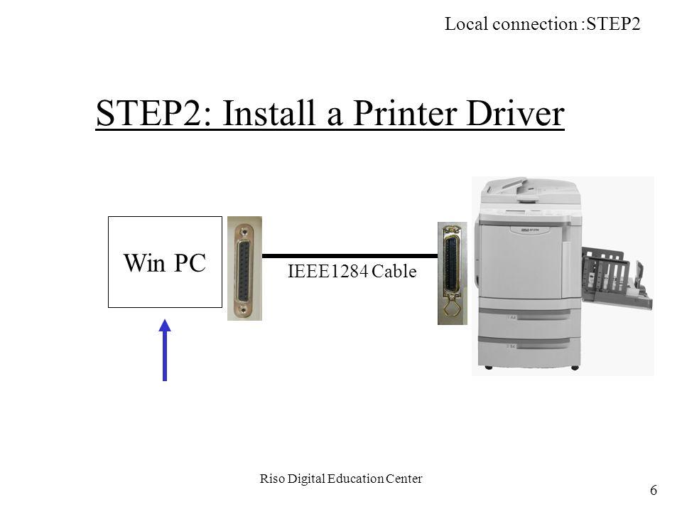 Riso Digital Education Center During print job RP Network Monitoring: STEP3 177