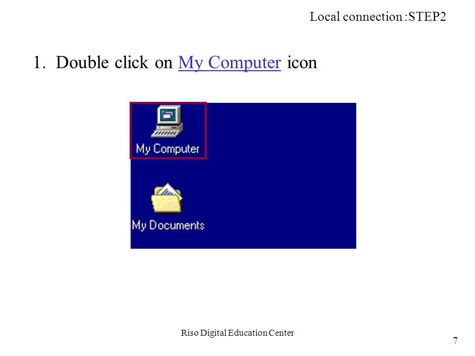 Riso Digital Education Center b-3.Click on Cancel button to close window.