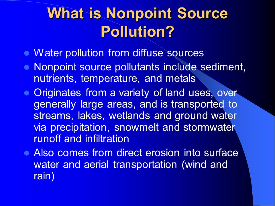 What is Nonpoint Source Pollution.