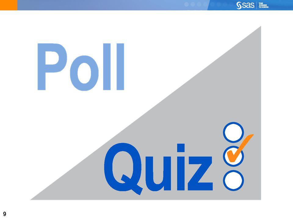 10 A.01 Quiz Open the SAS program e1Aa01.sas in SAS Enterprise Guide and run it.