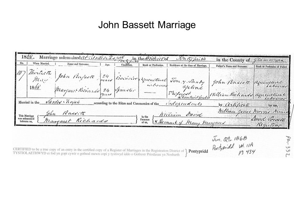 John Bassett Marriage