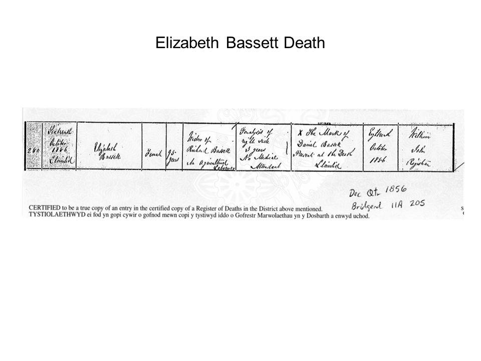 Elizabeth Bassett Death