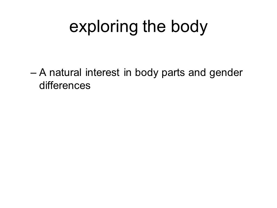 exploring the body –A natural interest in body parts and gender differences