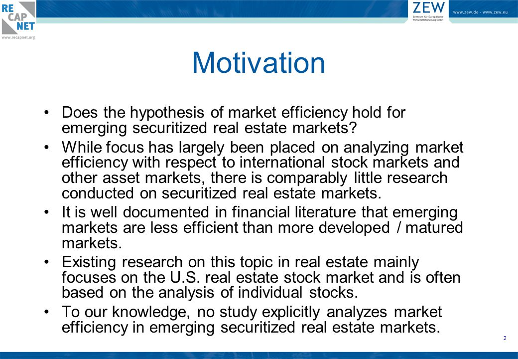 13 Feasible investment opportunity into the national securitized real estate indices.